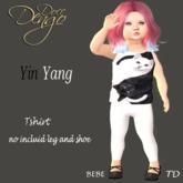 (DD) Tshirt  catsy yng/yang-TD baby/bebe
