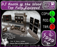 * NEW * DJ Booth in the Wood * Fully Equipped *