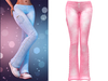 !PCP :: Lacey Jeans [Light Pink]