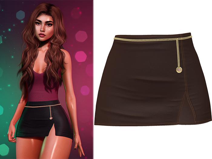 !PCP :: Serena Cloth Skirt [Chocolate]