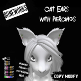 !Boneworks! > Cat Ears With Piercings (boxed)