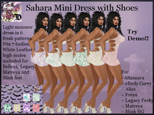 Sahara Mini Dress with Shoes