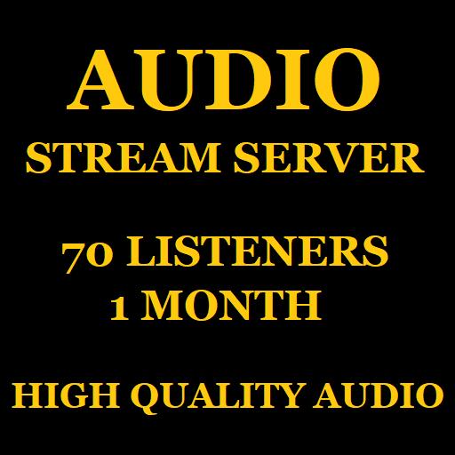 Audio Stream Server 70 Listeners 1 Month