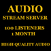 Audio Stream Server 100 Listeners 1 Month