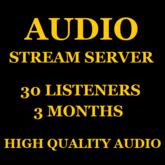 Shoutcast Stream Server 25 Listeners 3 Months