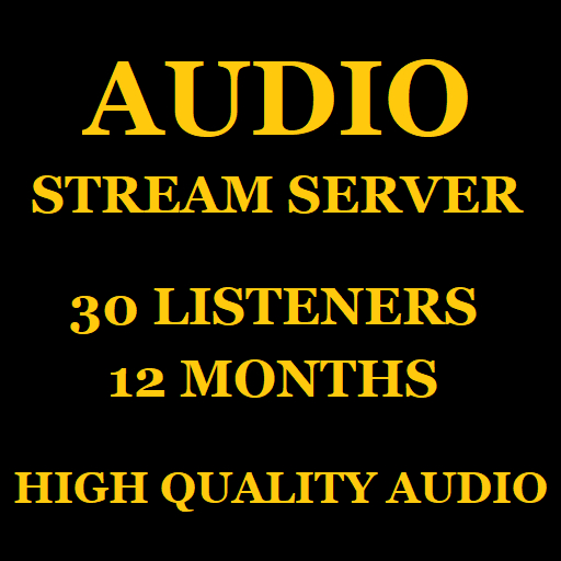 Audio Stream Server 30 Listeners 12 Months