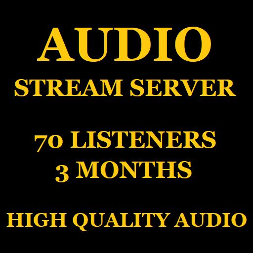 Audio Stream Server 70 Listeners 3 Months