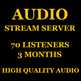 Audio Stream Server 70 Listeners 3 Months