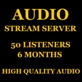 Audio Stream Server 50 Listeners 6 Months