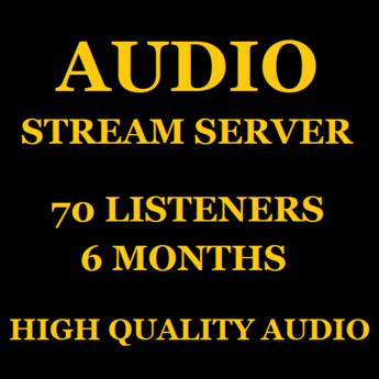 Audio Stream Server 70 Listeners 6 Months