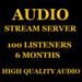 Audio Stream Server 100 Listeners 6 Months