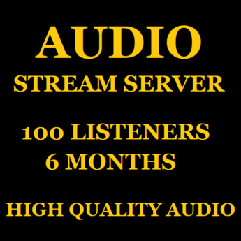 Audio Stream Server 100 Listeners 6 Months