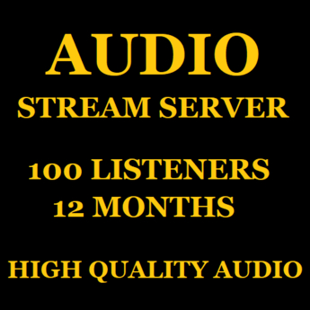 Audio Stream Server 100 Listeners 12 Months
