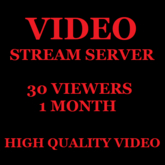 Video Stream Server 30 Viewers 1 Month