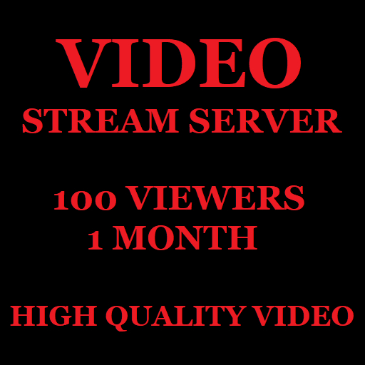 Video Stream Server 100 Viewers 1 Month