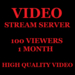 Video Stream Server Server 100 Viewers 1 Month