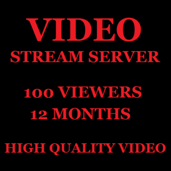 Video Stream Server 100 Viewers 12 Months
