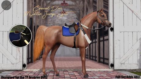 Cheval D'or - TeeglePet Arabian - Millie Jumping Set.
