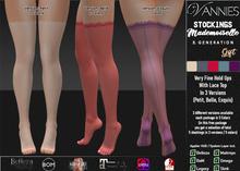 VANNIES Stockings Mademoiselle (Applier HUD + BoM) Belleza, Legacy, Maitreya, Slink, Omega + Classic Ava.