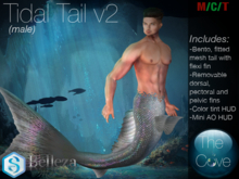 *The Cove* Tidal Tail Base V2 Male (Wear to unpack)