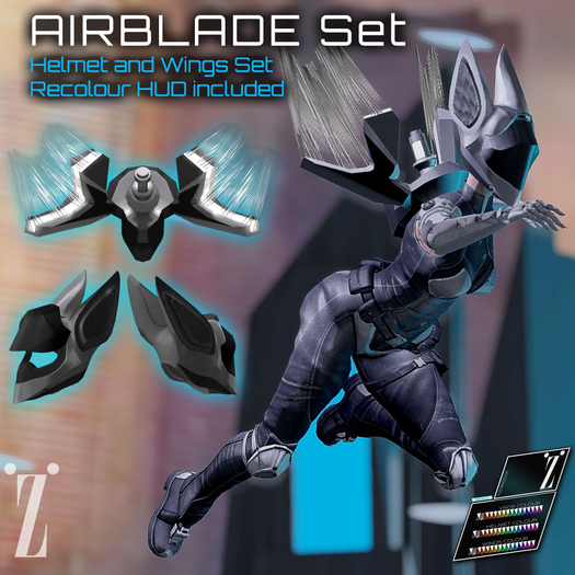 [inZoxi] - Box - AIRBLADE Helmet and Wings