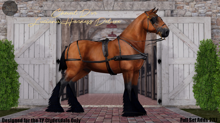 Cheval D'or / TeeglePet Clydesdale / Luciana Harness. *DELUXE*