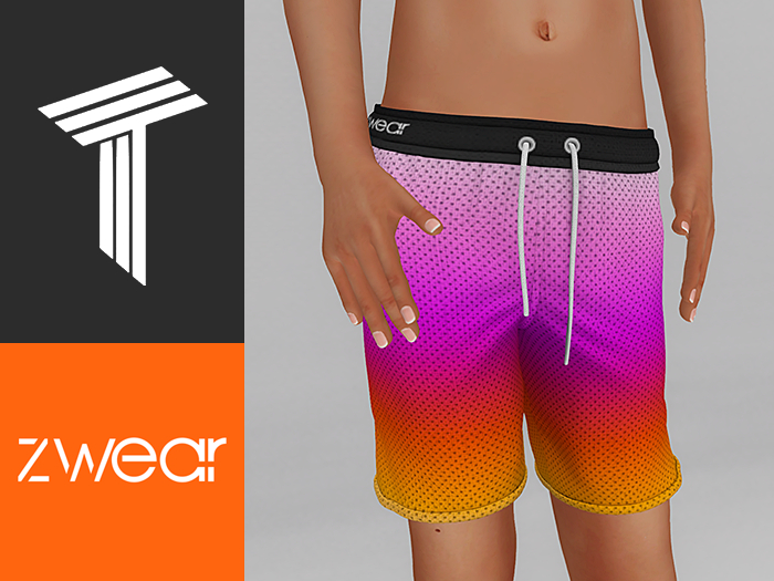 ZWEAR Tweenster Swimwear - Flow Unisex Swim Shorts