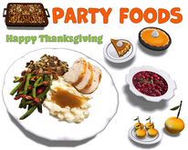 [ FULL PERM ] THANKSGIVING PARTY FOOD
