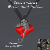Necklace Broken Dragon's Heart Stone's Works boxed