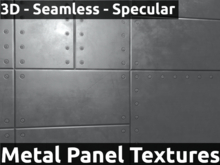 Metal Panels Texture Kit   3D Normal and Specular Mapped