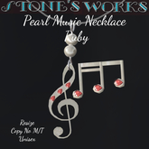 Pearl Music Necklace Ruby Stone's Works