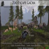 ZE 3rd eye Walking Elephant Mom & Calf UNCOMMON