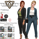 Trinity - Briony's Classic Pants Suit with Handbag (Maitreya/Belleza/Slink/Ocacin/Tonic/Voluptuous/Classic&Fitmesh M)