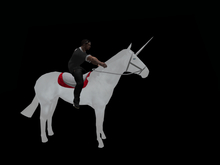 Wearable riding animesh unicorn