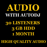 Shoutcast Stream With Autodj 30 Listeners 3 GB Space 1 Month