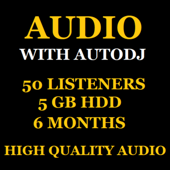 Shoutcast With Autodj 50 Listeners 5 GB Space 6 Months