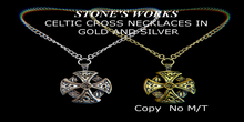 Celtic Cross Necklaces Stone's Works