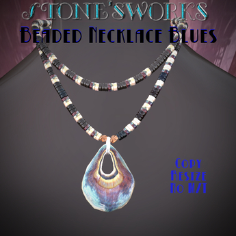 Beaded Necklace Blues Stone's Works