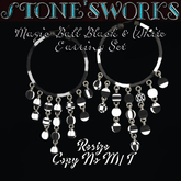 Magic Ball Black & White Earring Set Stone's Works