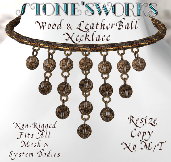Magic Ball Wooden Necklace Stone's Works
