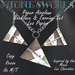 Paper Airplane Necklace Earring Set Les Papier Stone's Works_