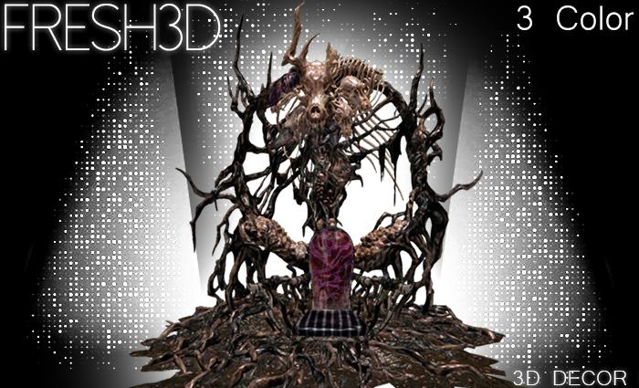 Fresh3D Master  Skull Throne