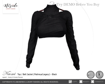 ~Nerido~ Naomi Top/Belt Jacket-Black