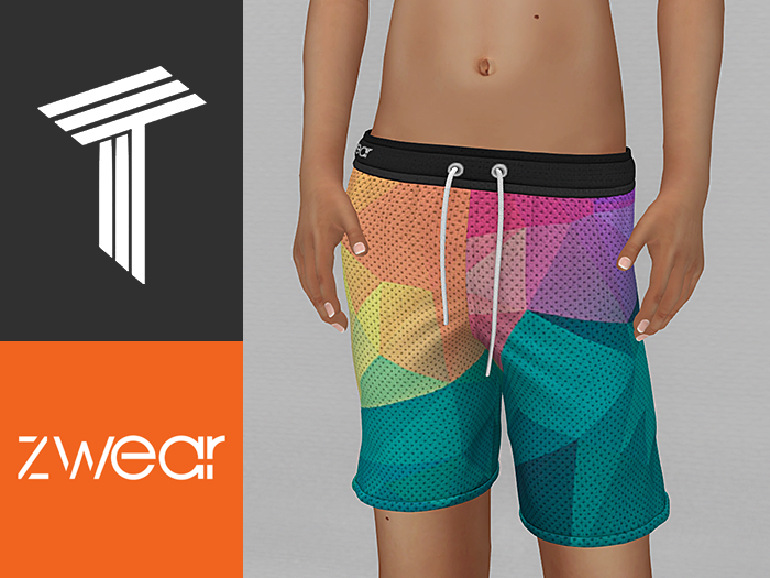 ZWEAR Tweenster Swimwear - Vector Unisex Swim Shorts