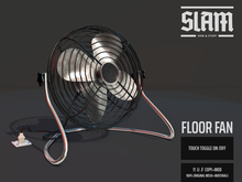 SLAM // floor fan // decor (spins)