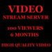Video Stream Server 100 Viewers 6 Months