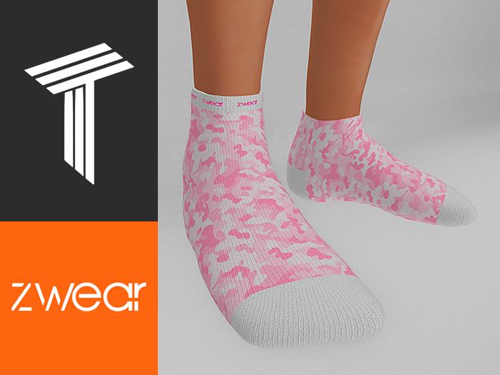 ZWEAR Tweenster Socks - Camo Pink