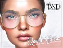 [BND] Mesh Round Glasses - Dollarbies