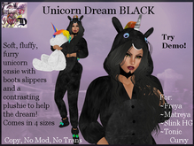 Dream Unicorn Onsie BLACK (ADD ME)