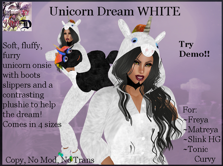 Dream Unicorn Onsie WHITE (ADD ME)